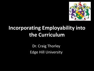 Incorporating Employability into the Curriculum