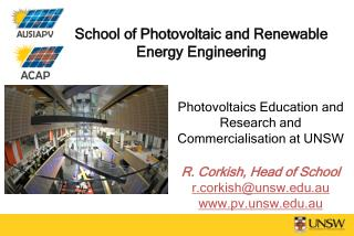 School of Photovoltaic and Renewable Energy Engineering