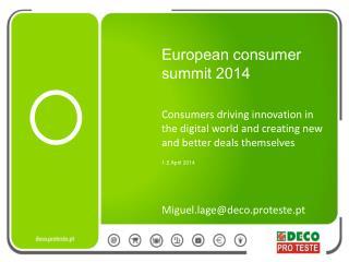European consumer summit 2014