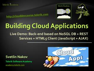 Building Cloud Applications