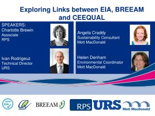 Exploring Links between EIA, BREEAM and CEEQUAL