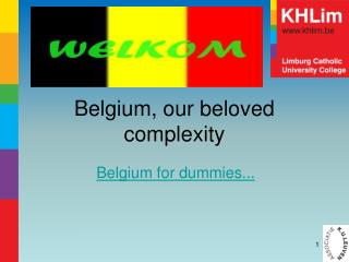 Belgium,  our beloved complexity
