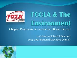 FCCLA & The Environment