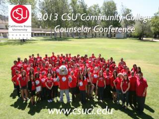 2013 CSU Community College Counselor Conference