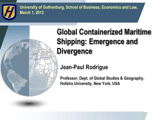 Global Containerized Maritime Shipping: Emergence and Divergence