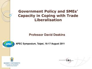 Government Policy and SMEs' Capacity in Coping with Trade  Liberalisation