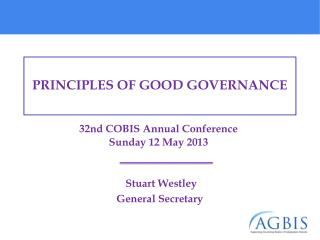 32nd COBIS Annual Conference  Sunday 12 May 2013