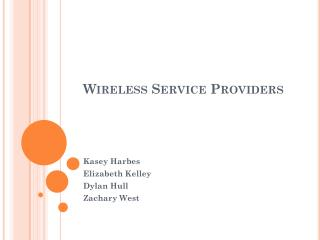 Wireless Service Providers