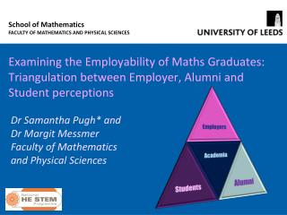 Examining the Employability of Maths Graduates:  Triangulation between Employer, Alumni and Student perceptions