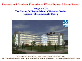 Presented to the UMass Boston  Retired Faculty Council, November 16 , 2012,