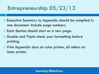 Entrepreneurship  05/23/13