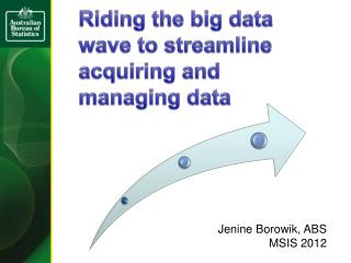 Riding the big data wave to streamline acquiring and managing data
