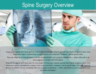 minimally invasive spine surgery miss
