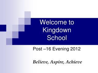 Welcome to  Kingdown School