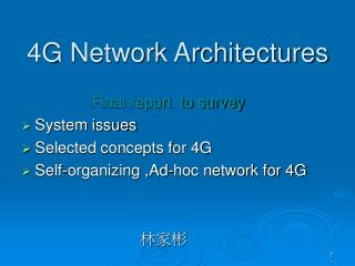 4g network architectures
