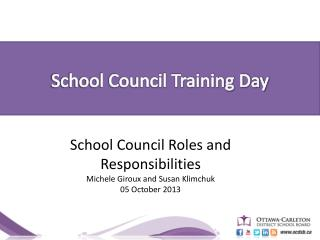 School Council Training Day