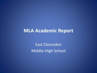 MLA Academic Report