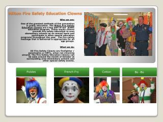 Milton Fire Safety Education Clowns