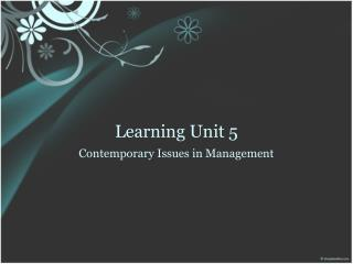 Learning Unit 5