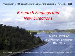 Presentation to KCP Consultative Group Meeting, Stockholm , November 2011