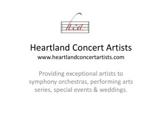 Heartland Concert Artists www.heartlandconcertartists.com