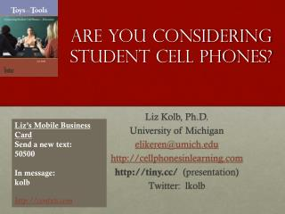 Are You Considering Student Cell Phones?