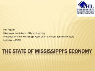 The State of Mississippi's Economy