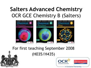 Salters Advanced Chemistry OCR GCE Chemistry B (Salters)