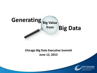 Chicago Big Data Executive Summit June 12, 2013