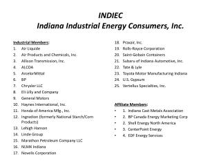 INDIEC  Indiana  Industrial Energy Consumers, Inc .