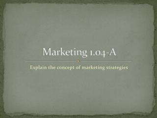 Marketing 1.04-A