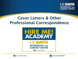 Cover Letters & Other Professional Correspondence