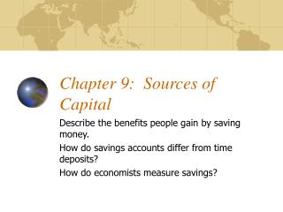 Chapter 9:  Sources of Capital