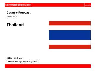 Country Forecast                                                                    August 2010