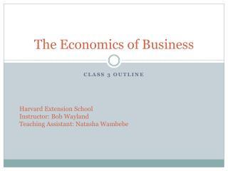 The Economics of Business
