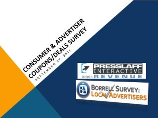 CONSUMER & ADVERTISER Coupons/Deals Survey