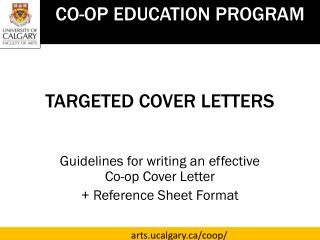 TARGETED  COVER LETTERS