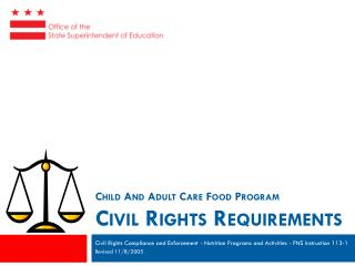 Child And Adult Care Food Program  C ivil Rights Requirements