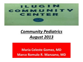 Community Pediatrics August 2013