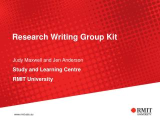 Research Writing Group Kit