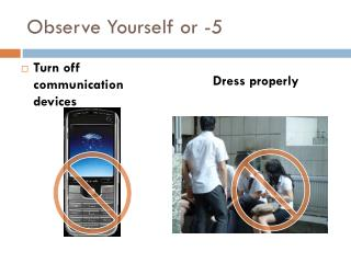 Observe Yourself or -5