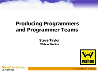 producing programmers and programmer teams