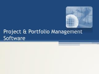 Project & Portfolio Management Software