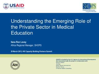 Understanding the Emerging Role of the Private Sector in Medical Education