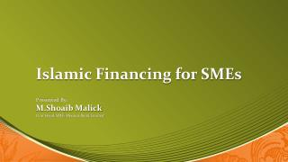 Islamic Financing for SMEs