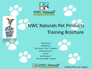 NWC Naturals Pet Products  Training Brochure