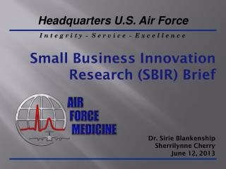 Small Business Innovation Research (SBIR) Brief