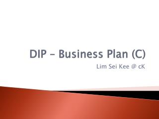 DIP – Business Plan (C)