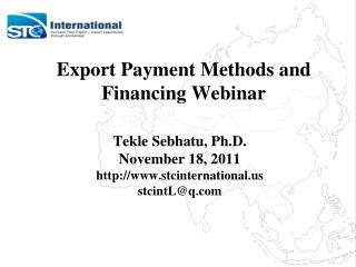 Export Payment Methods and  Financing Webinar