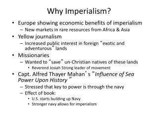 Why Imperialism?